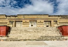 Historical monument in an the ancient Mesoamerican city. Historical monument in the ancient Mesoamerican city of Mitla Mexico Royalty Free Stock Images