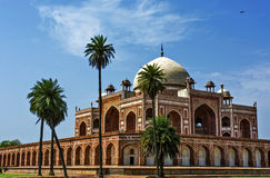 Historical Monument. Humayun's tomb in Delhi with blue sky in background Stock Image