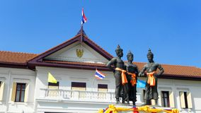 Historical monument of 3 kings, Chiang Mai Thailand Stock Photo