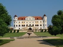 Historical monument Milotice. Beautiful castle historical monument Milotice , South Moravia. Czech Republic stock image