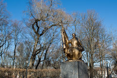 Historical monument of ukrainian soldiers in the park Royalty Free Stock Images