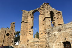 Historical monuments and buildings in the town of Famagusta, Northern Cyprus Stock Image