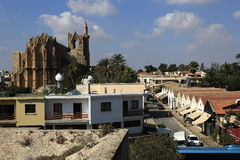 Historical monuments and buildings in the town of Famagusta, Northern Cyprus Stock Photography