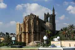 Historical monuments and buildings in the town of Famagusta, Northern Cyprus Stock Photo