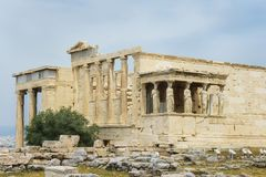 Historical monuments and temples in European capitals. Ruins and attractions, a trip to Europe. Greece, Athens, April 2018. Architecture of ancient Greece stock photo