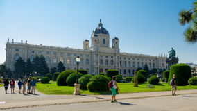 Historical Museum of Applied Arts in Vienna / Kunsthistorisches Museum in Vienna. Arriving to the Vienna, Austria we got out at the Maria Theresa monument and royalty free stock photo