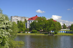 Historical Museum on the Bottom lake in Kaliningrad Stock Photography