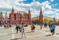 Historical museum and monument to Marshal Zhukov near Red Square in Moscow. Royalty Free Stock Photos