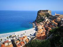 Historical town of Scilla, Italy. Historical mythical town of Scilla in Itally royalty free stock photo