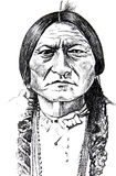 Historical Native American Icon Stock Photo
