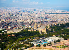 Historical neighbourhoods of Barcelona, view above Royalty Free Stock Photography