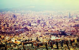 Historical neighbourhoods of Barcelona, view above Stock Photo