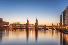 Oberbaum Bridge River Spree Berlin Royalty Free Stock Photography