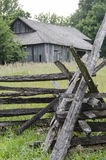 Historical Old Barn landmark in Missouri Town. Missouri Town 1855 is a 30-acre outdoor history museum located in Fleming Park east of Lake Jacomo in Jackson royalty free stock image