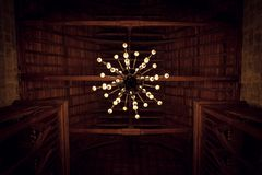 Historical old chandelier royalty free stock photography