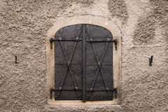 Metal window shutter Royalty Free Stock Photo