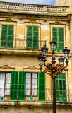 Historical old house and its facade royalty free stock photography