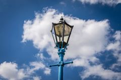 Historical old street light or lamp. stock photography