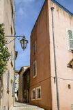 Historical Old Town of St Tropez, a popular resort on Mediterranean sea, Provence, France royalty free stock image