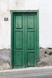 Historical ols door - the color is peeling off Stock Photos