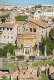 Historical open-air museum Roman Forum in Rome. Italy.  is one of the main travel destinations in Europe stock photos