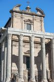 Historical open-air museum Roman Forum in Rome. Italy.  is one of the main travel destinations in Europe stock photography