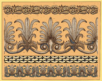 Historical ornaments. Isolated on light background.  Additional  format Illustrator 8 eps Stock Images