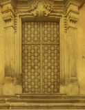 Historical Ornate Wooden Door in a Stone Entry Royalty Free Stock Photos