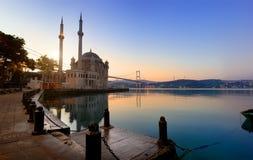 Historical Ortakoy Mosque Royalty Free Stock Photos