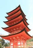 Historical pagoda temple in Miyajima Hiroshima Japan Royalty Free Stock Photos
