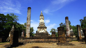Historical Pagoda Wat chedi seven rows temple landscape Royalty Free Stock Images