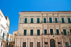 Historical palace. Altamura. Puglia. Italy. Royalty Free Stock Photo