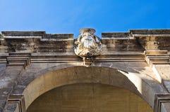 Historical palace. Bitritto. Puglia. Italy. Royalty Free Stock Photo