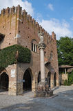 Historical palace of Emilia-Romagna. Italy. Stock Photography