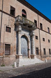 Historical palace of Ferrara. Royalty Free Stock Photos