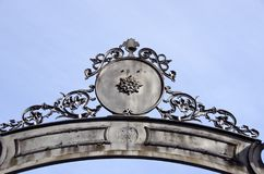 Historical palace gate meta ornaments design Royalty Free Stock Photography
