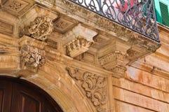 Historical palace. Locorotondo. Puglia. Italy. Stock Photos