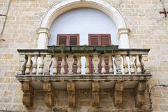 Historical palace. Mesagne. Puglia. Italy. Royalty Free Stock Photography