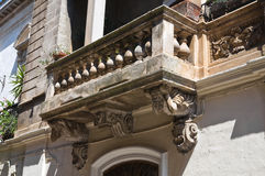 Historical Palace. Oria. Puglia. Italy. Royalty Free Stock Photo