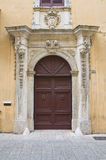 Historical palace. Presicce. Puglia. Italy. Royalty Free Stock Image