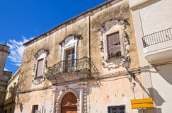 Historical palace. Presicce. Puglia. Italy. Stock Photo