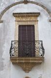 Historical palace. Presicce. Puglia. Italy. Stock Photography