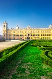 Reggia di Colorno in Colorno. Historical palace of Reggia di Colorno and green labyrinth in Colorno, Emila-Romagna, Italy Royalty Free Stock Photos