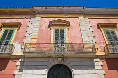 Historical palace. San Severo. Puglia. Italy. Stock Photos