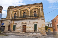Historical palace. San Vito dei Normanni. Puglia. Italy. Royalty Free Stock Images