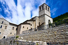 Historical palaces in Gubbio royalty free stock images