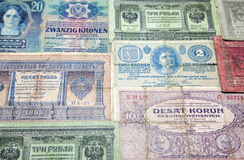 Historical paper money Royalty Free Stock Photos