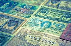 Historical paper money Royalty Free Stock Photo