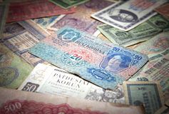 Historical paper money Stock Image
