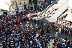 Historical parade at amalfi Royalty Free Stock Photography